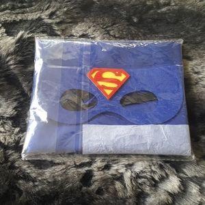 Superman. Childs quality cape & felt mask. New